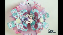 How to make a 4 1/2 inch Stacked Boutique bow (hair bow tutorial)