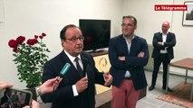 Saint-Brieuc. François Hollande : visite éclair aux militants socialistes