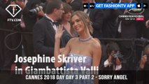 Josephine Skriver on Sorry Angel Red Carpet at Cannes Film Festival 2018 Day 3 | FashionTV | FTV