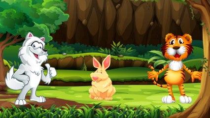 Динозаврик Дэнни - Волк, Тигр и Заяц (серия 29) - Развивающие мультики для самых маленьких