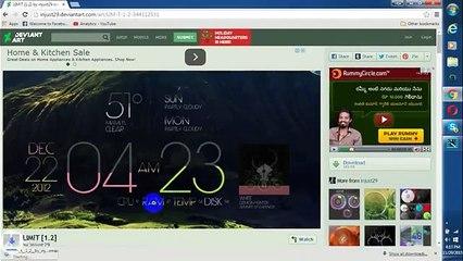 Best Windows 7 Desktop Customization [Clock and Weather]