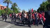 Derbi Betis-Sevilla: Llegada de la Afición del Sevilla al Benito Villamarín