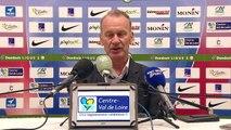 Réaction de Jean-Luc Vasseur et Jean-Marc Furlan après Berrichonne de Châteauroux - Stade Brestois 29