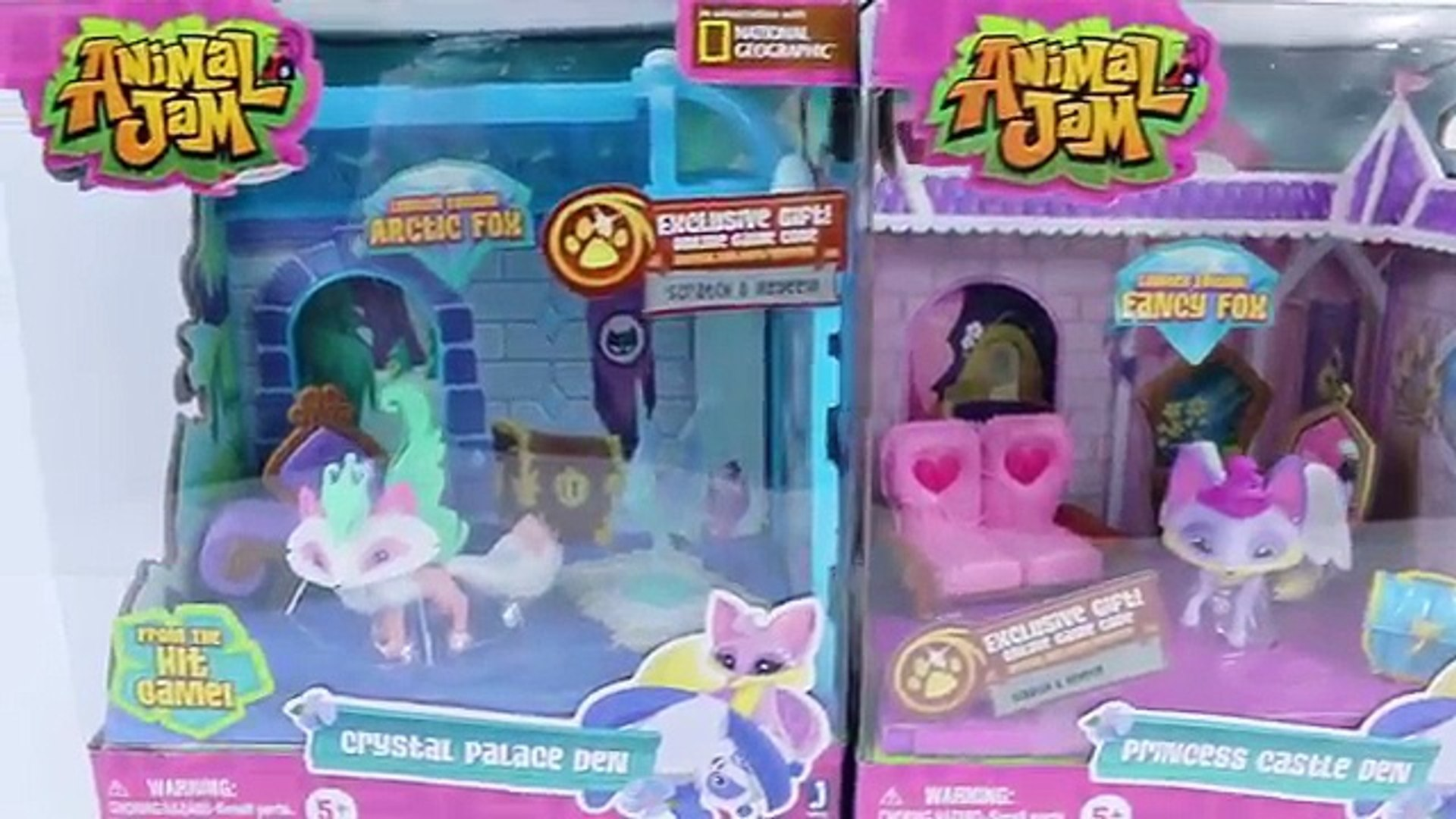 Animal Jam Crystal Palace and Princess Castle Dens with Limited Edition Pets