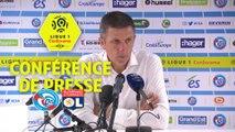 Conférence de presse RC Strasbourg Alsace - Olympique Lyonnais (3-2) : Thierry LAUREY (RCSA) - Bruno GENESIO (OL) / 2017-18