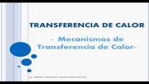 Introducción a la transferencia de calor / Mecanismos de Transferencia de Calor - Clase Transferencia de Calor