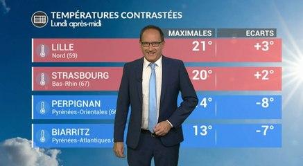 Météo de ce lundi : des températures contrastées