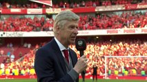 Arsene Wenger delivered a fiiting farwell speech to the Arsenal squad and supporters in his final home game in charge at Emirates Stadium yesterday.