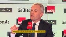 """François de Rugy : """"Je ne suis pas le chef du syndicat des parlementaires"""""""