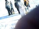 ski freestyle 540 test jump crash