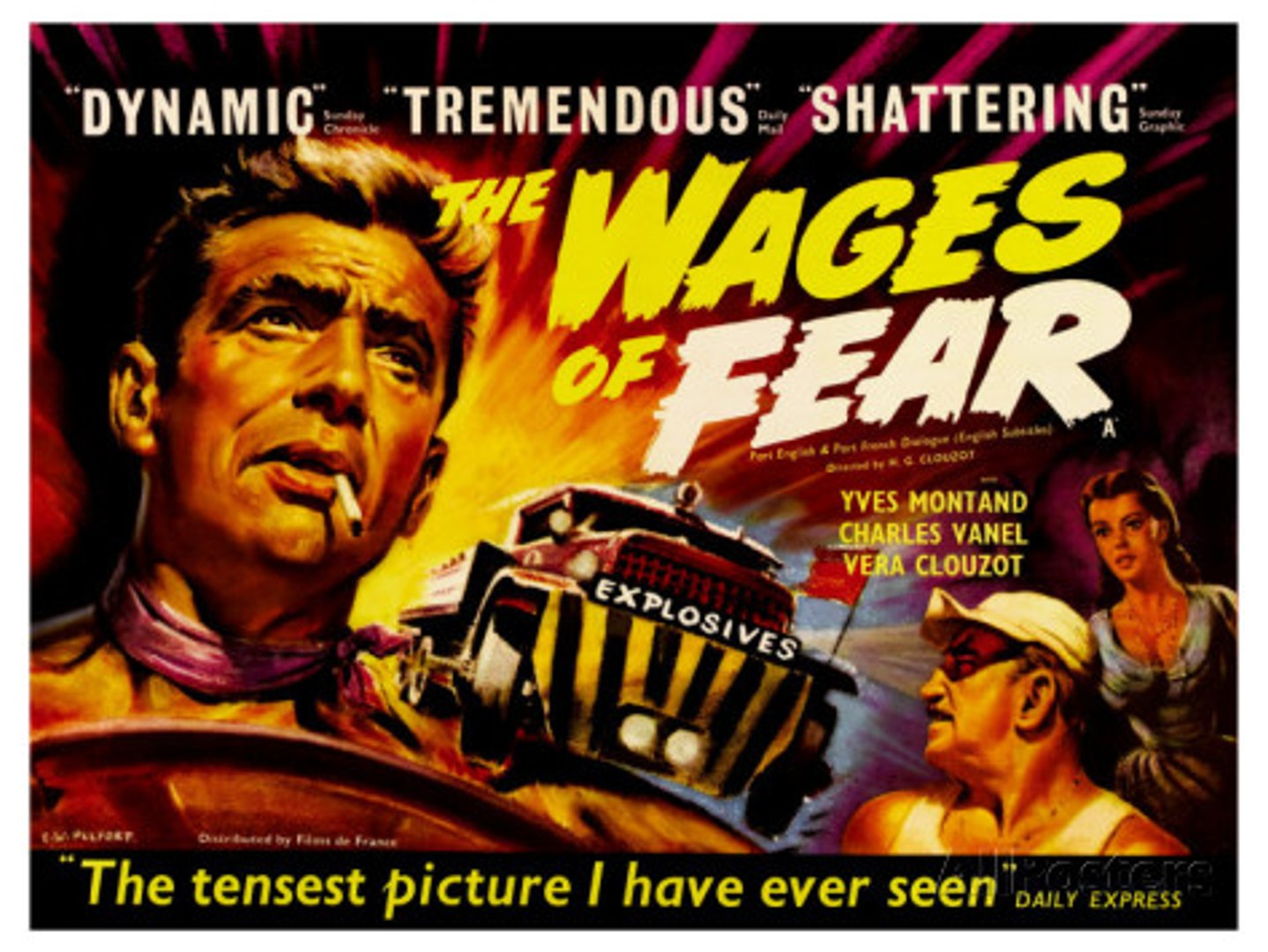 Yves Montand's The Wages Of Fear (1953) - video dailymotion