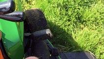 Mowing Around Trees with John Deere X750