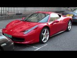 Ferrari 458 Italia (Rosso Corsa) Walkaround in Knightsbridge, London + LP640!