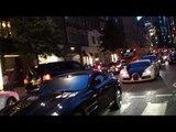 SLR Burnout in central London! McLaren Mercedes SLR Roadster spinning wheels!