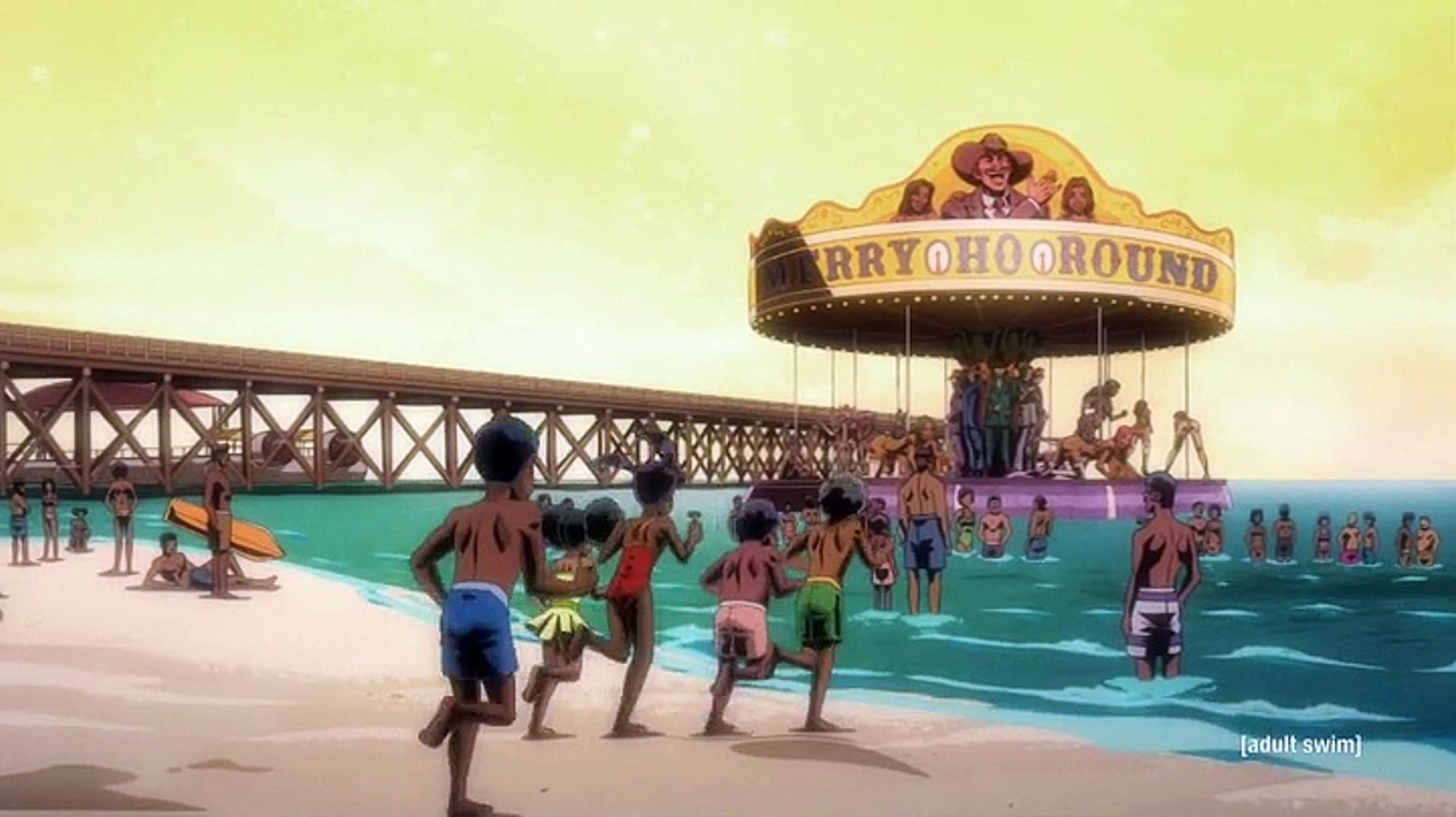 Black Dynamite S02E02 Black Jaws or Finger Lickin' Chicken of the Sea