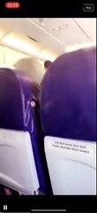 Une passagère descendue d'un avion