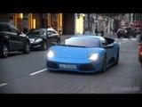 MATTE BLUE Lamborghini LP640 from Kuwait - Driving in London