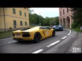 Lambos in the Hills - Flybys from SV, Aventador, LP560, Murcielago, Countach
