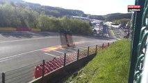 Spa-Francorchamps : Une voiture à pleine vitesse décolle de la piste et se crashe (Vidéo)