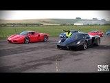 Ferrari Enzo vs Ferrari Enzo - Drag Race!