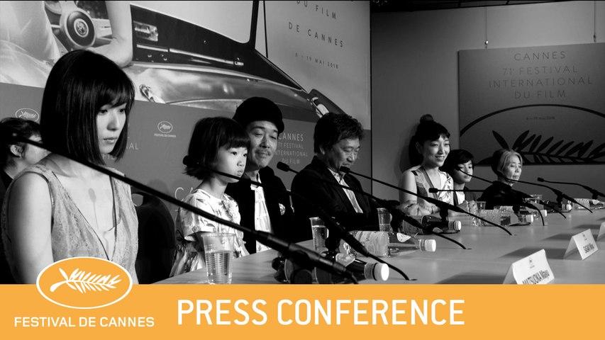 MANBIKI KAZOKU - CANNES 2018 -PRESS CONFERENCE - EV
