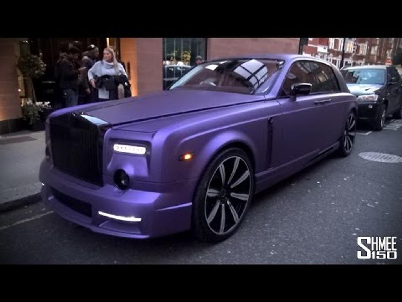 Purple Mansory Rolls Royce Phantom In London Video Dailymotion