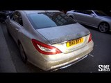 Swarovski Crystal Covered Mercedes CLS in London