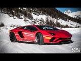 SNOW DRIFTS in the Lamborghini Aventador S!