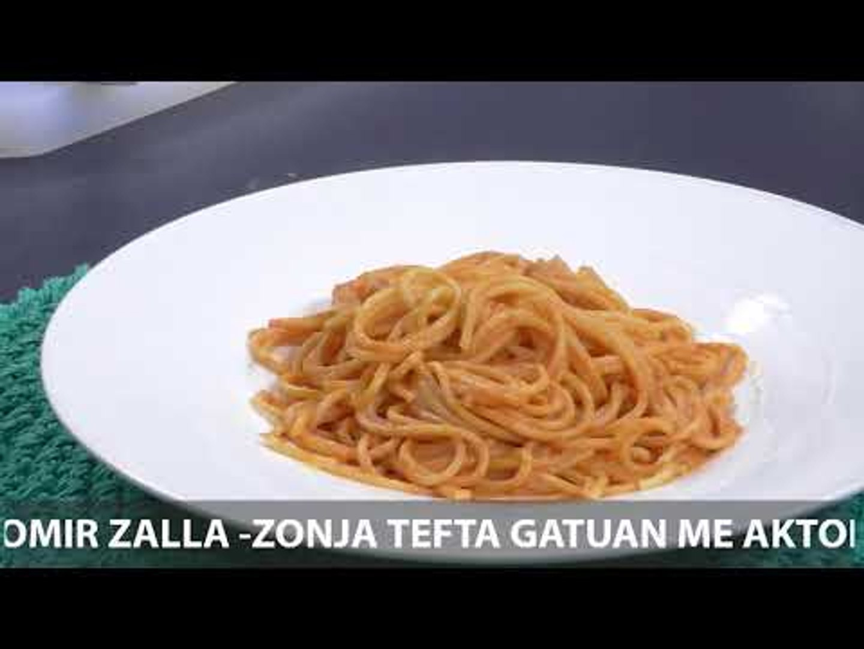 Te gatuajme me Zonjen Tefta PJ2 Spagheti me salce roze, Palacinka me molle te karamelizuara