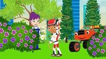 BLAZE CAR THE MONSTER MACHINES Blaze & AJ Eat Candy Vandalism! Blaze Monster Truck Full Episodes