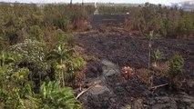 Les dégats causés par une éruption volcanique et le passage de lave en fusion -  Leilani Estates, Hawaii