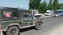 Report TV - Aksident në Fushë Krujë, përplasen tre makina, dy të plagosur