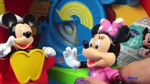 Mickey Mouse Club House Playhouse Identify who the Objects belong too & a surprise Mickey Mouse Egg