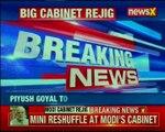 Modi reshuffles cabinet Piyush Goyal given additional charge of Finance, Rajyavardhan Rathore gets I&B
