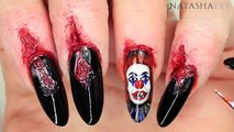 SCARY CLOWN & DIY TORN NAIL NAILART (INCLUDING SFX MAKEUP CUTS)