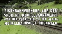 Viel Eisenbahnverkehr auf der Spur H0 Anlage in der Modellbahnwelt Odenwald - Ein Film von Pennula über digitale Modelleisenbahnen sowie Modellbahnen und Modellbau der Eisenbahn