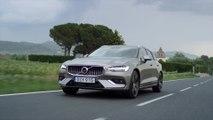 New Volvo V60 T6 Inscription Pebble Grey Driving Video