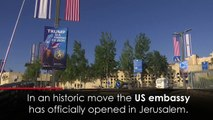 US Embassy opens in Jerusalem amidst bloodshed in Gaza