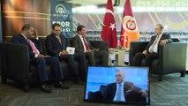 Galatasaray Kulübü Başkanı Mustafa Cengiz AA Spor Masası'nda (1) - Göztepe maçı stadı - İSTANBUL