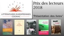 Présentation des romans pour le Prix des lecteurs des Littératures Européennes de COGNAC 2018