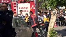 Ankara'da araç kaldırımdaki yayalara çarptı 1 ölü, 2'si ağır 6 yaralı