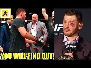 Stipe Miocic on whether he'd let Dana put the belt around his waist at UFC 226,Holloway wants Khabib