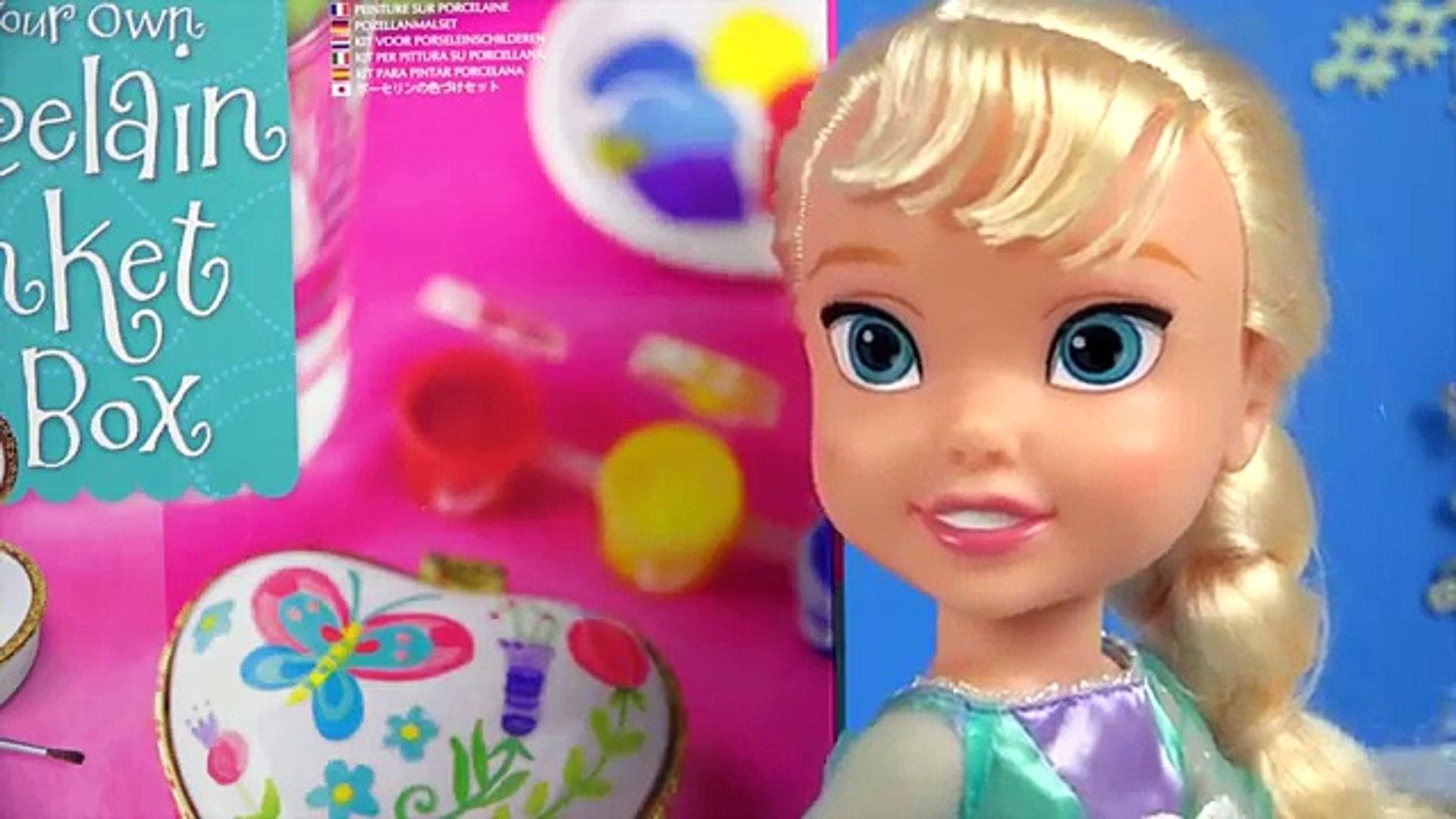 Frozen Elsa Jewelry Box Heart Shaped Trinket Keepsake Gift How to paint Disney Toy Box