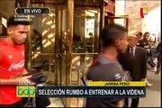 Selección Peruana parte rumbo a la Videna para continuar con entrenamientos