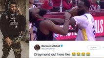 Donovan Mitchell TROLLS Draymond Green For Technical! 2018 NBA Western Conference Finals