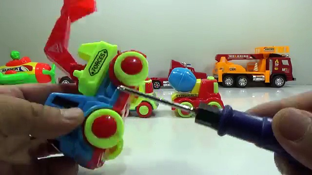Baby Studio – How to dismantle truck excavator |Truck toys | Car toys