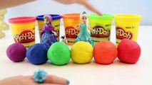 Frozen Glitter Glider Anna Elsa MagiClip Dolls Unboxing Toy Review Play Doh DIY