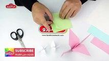 العاب اطفال ورقية - صنع طائر من الورق - كيفية عمل اشكال الطيور اورجامى 3d - طي الورق