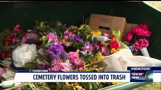 Cemetery Lawn Crew Throws Flowers Away Day After Mother s Da