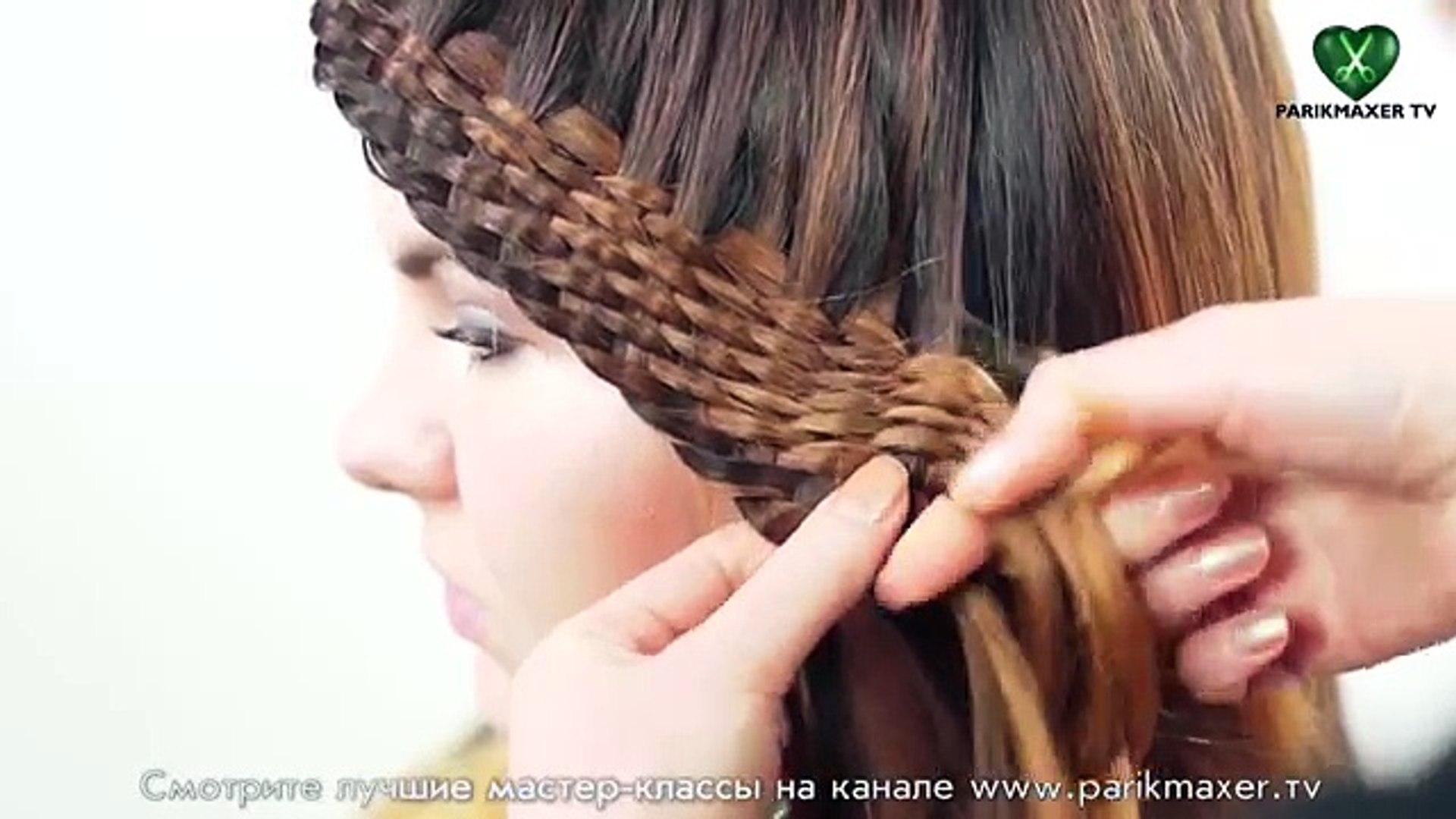Плетение из множества прядей Quick and easy braided hairstyle. парикмахер тв parikmaxer tv
